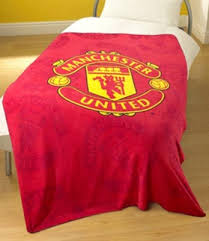 Manchester United Bed Linen - manchester united fleece bed sofa throw blanket large