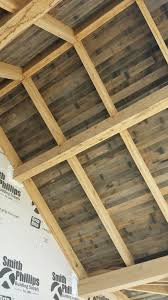 tongue and groove reclaimed barnwood for outdoor patio ceiling