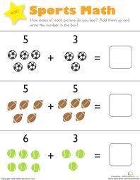 addition worksheet for kindergarten worksheets