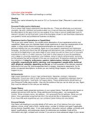 Sample Resume Profile Statements by Resume Profile Statement Free Resume Example And Writing Download