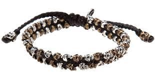 bracelet skull images Lyst m cohen skull bracelet in black for men jpeg