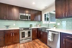 subway tile in kitchen backsplash awe inspiring kitchen backsplash subway tile light green glass