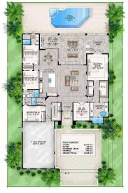 coastal contemporary florida mediterranean house plan 52911 level