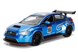 jdm subaru 2016 2016 subaru wrx sti widebody blue 16 jdm tuners 1 24 model by
