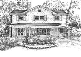 Residential Ink Home Design Drafting by House Rendering Hand Drawn In Ink Home Custom Home