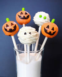 cake pop halloween jack o lantern and mummy cake pops