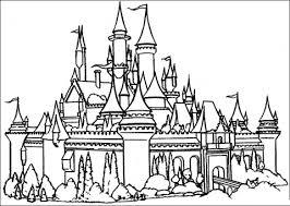 princess cinderella color pages printable disney castle free