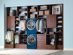interior dazzling laundry room with closet organization also