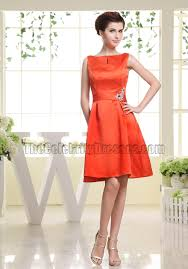 a line orange cocktail dress party homecoming dresses