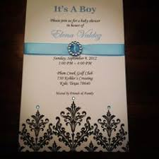 bowties and bling baby shower invitation by swishdesigns 15 00