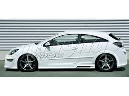opel astra 2005 coupe opel astra h gtc attack side skirts