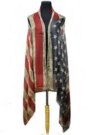 American Flag Cardigan American Flag Semi Sheer Sleeveless Cardigan Vintage Distressed
