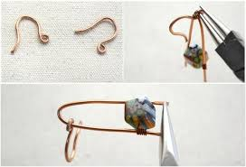diy wire wishbone pattern earrings how to make a pair of