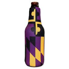 baltimore ravens black and purple bottle koozie u2013 route one apparel
