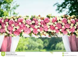 wedding arches flowers part of wedding arch stock photo image 46195798