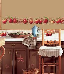 kitchen border ideas apples 40 big wall decals country border kitchen stickers