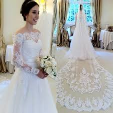 wedding dress lace mild white lace wedding dress bridal gown with sleeves