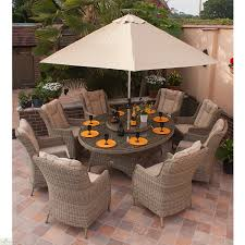 8 Seat Patio Dining Set - casamore corfu elliptical 8 seater dining set the home furniture