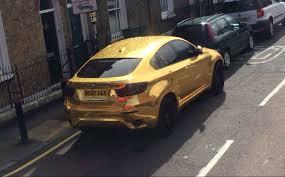 chrome gold ferrari gold chrome wrapped bmw x6 or not