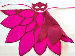pj mask owlette mask cape bhb kidstyle