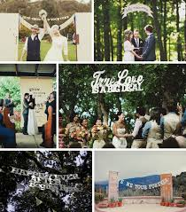 wedding backdrop letters words as wedding decor