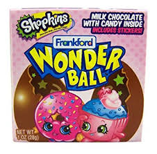 Where To Buy Chocolate Eggs With Toys Inside Amazon Com Shopkins Surprise Egg Chocolate Wonderball With Candy
