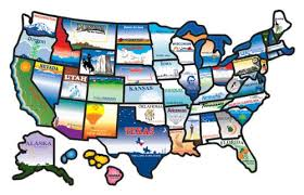 visited states map amazon com cci 100 permanent state sticker automotive