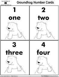groundhog number cards 1 12 teacher stuff printable