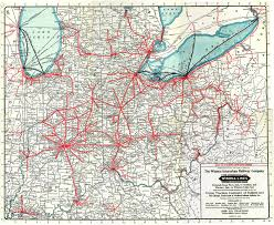 Map Of Northern Ohio by Cleveland Freight Terminal Lake Shore Rail Maps