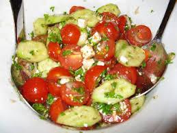 cuisiner les tomates cerises ma cuisine sans prétention salade tomates cerises concombre et feta