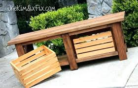 garden benches with storage collection in plastic patio bench