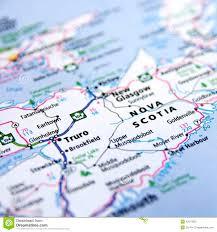 Nova Scotia Canada Map by Map Of Nova Scotia Stock Photo Image 42373925