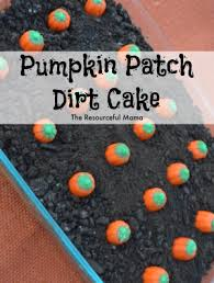 pumpkin patch dirt cake the resourceful