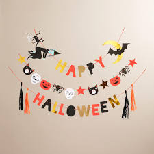 halloween fireplace mantel decor spooky banner halloween garland