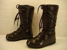 womens moon boots size 9 tecnica moon boot w e met silver womens winter boots size