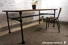 antique metal table legs oak dining table with tubular legs vintage industrial furniture