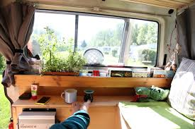 Kitchen Window Shelf Ideas Wood Herbs Vanning Vanlife Van Vw T4 Camping Converting