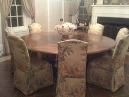 dining room big round wooden dining room table beautified with