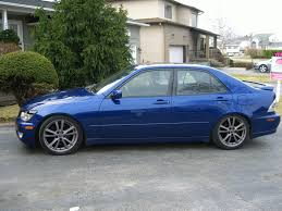 lexus is300 blue does anyone have the 07 is350 rims painted on their is300 lexus