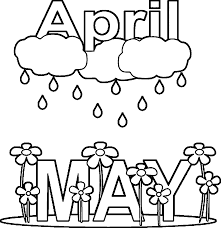 april showers coloring page free download