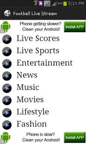 apk live football live 2g 3g hd apk 4 2 football live
