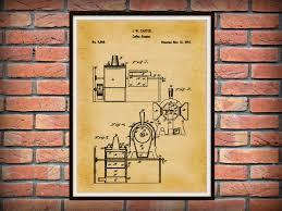 patent 1846 coffee roaster wall art print kitchen art poster