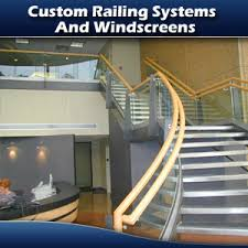 Glass Handrails For Stairs Glass Handrail Systems And Wind Screens Atlanta Commercial Glazing