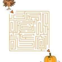 thanksgiving printable mazes 6 mazes to print and