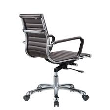 bikey collection mid back leather conference office chair