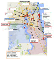 Map Of Pine Island Florida by Map Of Jacksonville U0026 Mayport Florida Military Town Advisor