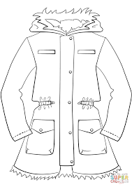 coat clipart coloring page pencil and in color coat clipart