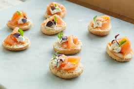 dining canapes recipes mooli and smoked salmon gluten free canapé recipe great