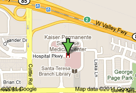 kaiser san jose facility map kaiser san jose map my