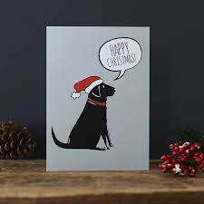 black christmas cards pack of six black labrador christmas cards by sweet william designs